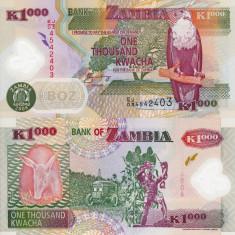 ZAMBIA 1.000 kwacha 2008 polymer UNC!!!