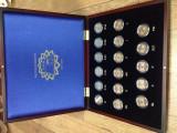 """Serie 17 monede 2 euro comemorative 2007 """"50 ani Tratat Roma"""" + Cutie LUX, UNC"""