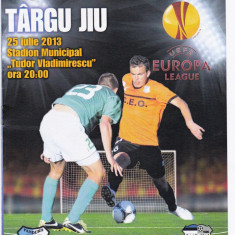 Program meci fotbal PANDURII TARGU JIU-LEVADIA TALLIN 25.07.2013