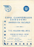 Program meci handbal UNIVERSITATEA BUCURESTI - TVS HOLSTEIN KIEL(RFG) 27.02.1972