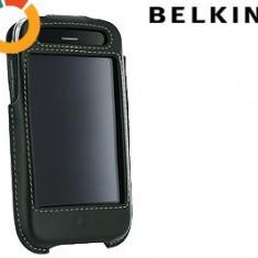 Husa Belkin neagra din piele naturala pentru Iphone 3G/3GS - Husa Telefon Belkin, Negru