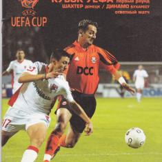 Program meci fotbal SAHTIOR DONETK - DINAMO BUCURESTI 15.10.2003 (UEFA CUP)
