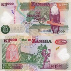 ZAMBIA 1.000 kwacha 2004 polymer UNC!!!