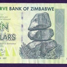 ZIMBABWE 10 DOLARI DOLLARS 2007 [10] P-67, VF+ - bancnota africa
