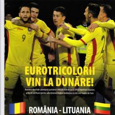 Program meci fotbal ROMANIA - LITUANIA 23.03.2016