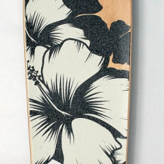 Longboard DROP SHAPE - Flower Axe Aluminiu - Roti Silikon - Rulmenti ABEC7 - Nou - Skateboard inSPORTline, Marime: 42