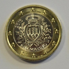 Moneda 1 euro San Marino 2015, UNC, Europa, Cupru-Nichel