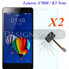 2X FOLIE DE STICLA LENOVO A7000/K3 NOTE TEMPERED GLASS SUPER OFERTA (2 BUC) - Folie de protectie