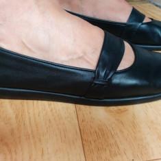Pantofi din piele firma AEROSOLES marimea 38, sunt noi! - Pantof dama Aerosoles, Culoare: Negru, Piele naturala