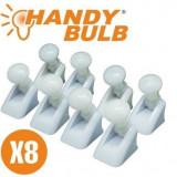 Set complet 8 becuri Handy Bulb LED bec fara fir cu intrerupator