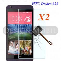 2X FOLIE DE STICLA HTC DESIRE 626 TEMPERED GLASS SUPER OFERTA (2 BUC) - Folie de protectie