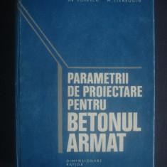 HR. POPESCU * M. ELENBOGEN - PARAMETRII DE PROIECTARE PENTRU BETONUL ARMAT - Carti Constructii