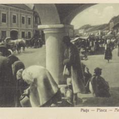LIPOVA ARAD PIATA VILIAM KLEIN BAZAR LIPOVA - Carte Postala Crisana dupa 1918, Necirculata, Printata