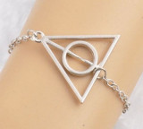 Bratara Harry Potter  - Deathly Hallows - Culoare Argintiu