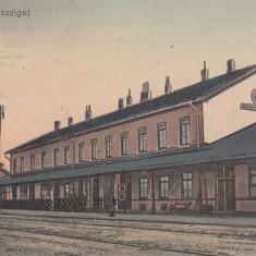 SIGHETU MARMATIEI, GARA - Carte Postala Maramures 1904-1918, Necirculata, Printata