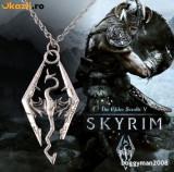 Pandantiv / Colier / Lantisor Placat cu Argint SKYRIM - ELDER SCROLLS - Dragon