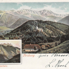 RASNOV, CETATEA RASNOV, CIRCULATA AUG.''901 - Carte Postala Transilvania dupa 1918, Printata