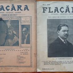 Revista Flacara , nr. 9 din 1923 si nr. 11 din 1913 , 2 numere omagiale + pliant