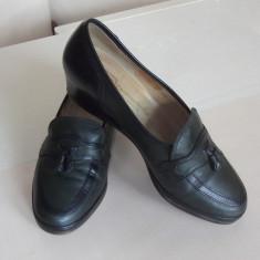 Pantofi dama GABOR, piele naturala int/ext, marimea 37 UK 4, int 23cm, impecabili - Pantof dama Gabor, Culoare: Din imagine, Marime: 36, Cu platforma