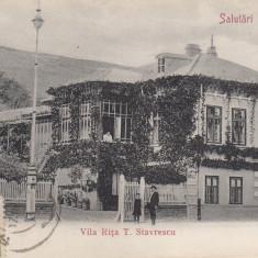 SLATINA SALUTARI DIN SLATINA VILA RITA T. STAVRESCU CIRC.1905 TCV - Carte Postala Oltenia pana la 1904, Circulata, Printata