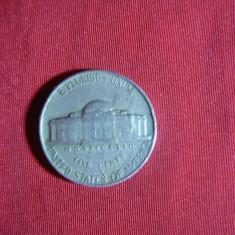 Moneda 5 centi 1952 SUA, Cu-Ni, cal.F.Buna, America de Nord