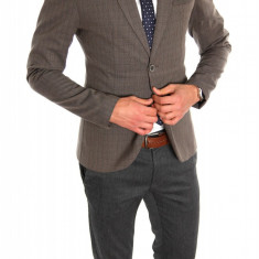 Sacou tip Zara Man maro casual - sacou barbati - sacou bumbac cod 6325, Marime: XL, Culoare: Din imagine