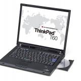 Laptop Lenovo T60, Core Duo T2300, 1.66Ghz, 2Gb DDR2, 60Gb, DVD, 12170, Diagonala ecran: 15, Intel Core 2 Duo, Sub 80 GB
