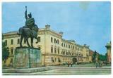 7487 - Romania (509) - ALBA-IULIA, statue Mihai Viteazul - postcard - used  1976, Circulata, Printata