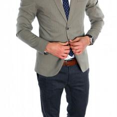 Sacou tip Zara Man bleumarin casual - sacou barbati - sacou bumbac cod 6327, Marime: S, M, L, XL, Culoare: Din imagine