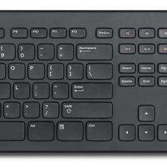 Kit Tastatura + Mouse DELL model: KM632 layout: US NEGRU USB WIRELESS MULTIMEDIA, Fara fir