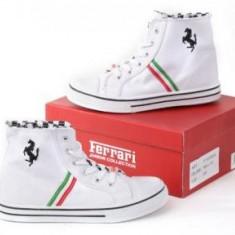 Tenisi Originali Ferrari Collection Copii! marimi 34 - Tenisi copii, Marime: 32, Culoare: Alb