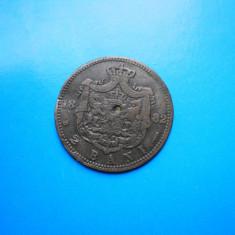 HOPCT ROMANIA 2 BANI 1882 EROARE ! LITERA L INTRERUPT /PATINA FRUMOASA ! - Moneda Romania, Cupru (arama)