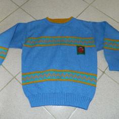 Bluza tricotaj, marimea 5-7 ani, produs romanesc, acryl. COMANDA MINIMA 30 lei!, Culoare: Albastru, Baieti