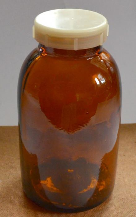 Sticlarie laborator, borcan farmaceutic sau pentru laborator cu capac plastic