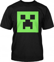 123123Tricou -Minecraft 7-10 ani  T-shirt Creeper GLOW in the DARK - ORIGINAL JINX !!