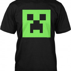 Tricou -Minecraft 7-10 ani T-shirt Creeper GLOW in the DARK - ORIGINAL JINX !!, Marime: YM, YL, Culoare: Din imagine, Unisex