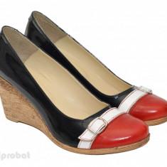 Pantofi dama eleganti - casual din piele naturala cod P37 - Made in Romania - Pantof dama, Culoare: Din imagine, Marime: 35, 36, 38, 39, 40, Cu platforma