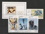 D.D.R.1980 Olimpiada de iarna LAKE PLACID  CD.1154, Nestampilat