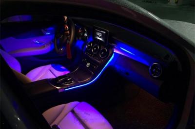 NOU! Neon Flexibil 5 Metri Lumina Ambientala auto universal bmw audi vw etc. foto