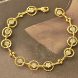 Superba bratara 9K GOLD FILLED cu zircon cz