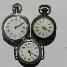 CEASURI DE BUZUNAR DE DAMA -3 BUCATI -PENTRU PIESE DE SCHIMB - Ceas de buzunar vechi