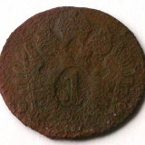 TRANSILVANIA AUSTRIA 1 KREUZER 1800 **, Europa, Cupru (arama)