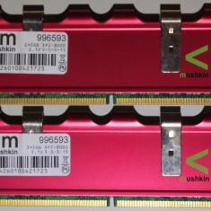 Mushkin 4 GB DDr2 2*2GB 1000 Mhz Mushkin Enhanced Redline 4096MB PC2-8000 996593, DDR 2, Dual channel