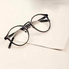 Ochelari lentila transparenta protectie gen unisex model retro toc inclus - Ochelari stil wayfarer