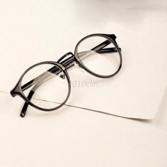 Ochelari lentila transparenta protectie gen unisex model retro husa inclusa