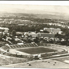 @carte postala(ilustrata)-BACAU-Stadionul - Carte Postala Moldova dupa 1918, Circulata, Fotografie