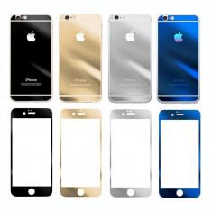 Folie protectie rezistiva sticla fata spate oglinda Apple iPhone 6s Plus - Folie de protectie