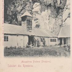 SALUTARI DIN ROMANIA, MANASTIREA PESTERA (PRAHOVA) - Carte Postala Muntenia pana la 1904, Necirculata, Printata