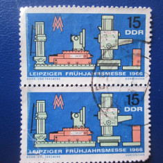 TIMBRE GERMANIA- DDR-- BLOC STAMPILAT