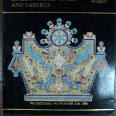 Opere de arta Rusia si Faberge, Catalog Licitatie Christies, Geneva 1986 - Carte Istoria artei